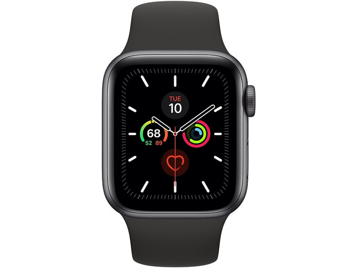 Фото - Смарт-часы Apple Watch Series 5 44mm Space Gray Aluminum Case with Black Sport Band