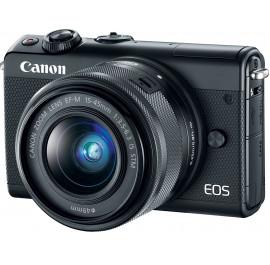 Купить Фотокамера беззеркальная Canon EOS M100 + 15-45 IS STM Black  (2209C048) cb316449955fb