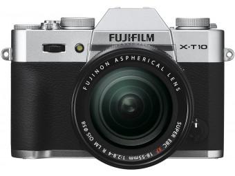 Купить Фотокамера беззеркальная Fujifilm X-T10 Kit 18-55 Silver
