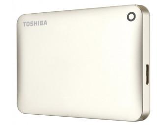 Купить Жесткий диск внешний проводной Toshiba Canvio Connect II 1 TB Gold (HDTC810EC3AA)