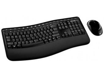 Купить Клавиатура и мышь беспроводная Microsoft WL Comfort Desktop 5050 Blue (PP4-00017)