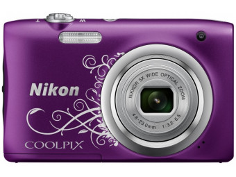 Купить Фотокамера Nikon Coolpix A100 Purple Lineart (VNA974E1)