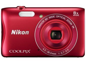 Купить Фотокамера Nikon Coolpix S3700 Red