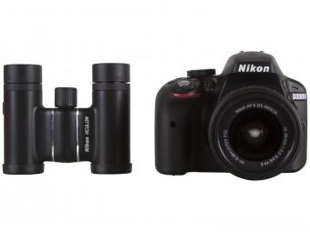 Купить Фотокамера зеркальная Nikon D3300 Kit 18-55 VR II + Бинокль ACULON T01 10X21