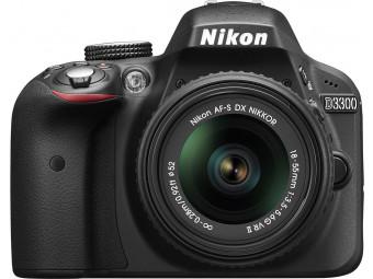 Купить Фотокамера со сменным объективом Nikon D3300 Kit 18-55mm VR II Black