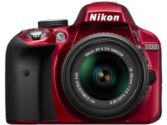Купить Фотокамера со сменным объективом Nikon D3300 Kit 18-55mm VR II Red