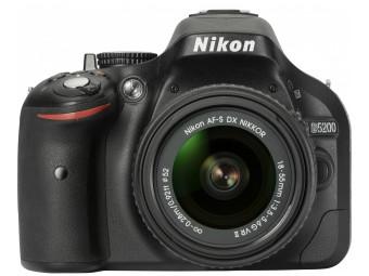 Купить Фотокамера зеркальная Nikon D5200 + 18-55mm II Kit (VBA350KV02) Black