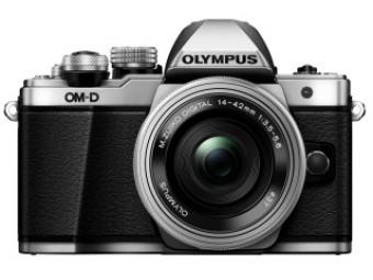 Купить Фотокамера беззеркальная Olympus E-M10 pancake zoom 14-42 Kit silver/silver