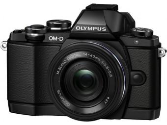 Купить Фотокамера беззеркальная Olympus E-M10 pancake zoom 14-42 Kit black/black