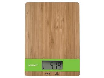 Купить Весы кухонные Scarlett SC-KS57P01 бамбук зеленый
