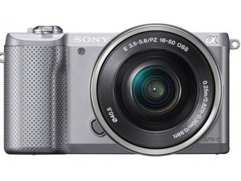 Купить Фотокамера со сменным объективом Sony ILCE-5000 Kit 16-50mm OSS Silver