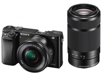 Купить Фотокамера со сменным объективом Sony ILCE-6000YB 16-50mm и 55-210mm Black
