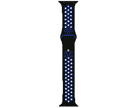 Ремешок для смарт-часов Molife Apple Watch Silicone Nike Sport Band 8 Black/Blue 42mm