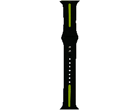 Ремешок для смарт-часов Molife Apple Watch Silicone Stripe Band Black/Green 42mm