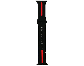 Ремешок для смарт-часов Molife Apple Watch Silicone Stripe Band Black/Red 42mm