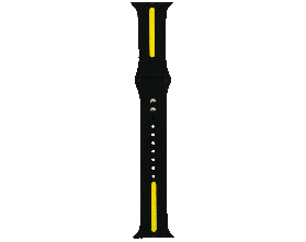 Ремешок для смарт-часов Molife Apple Watch Silicone Stripe Band Black/Yellow 42mm