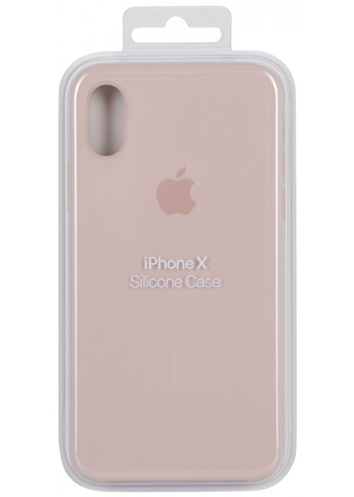 best sneakers 6f89e bad7e Чехол для смартфона Apple iPhone X Silicone Case - Pink Sand (ZKMQT62ZMA)