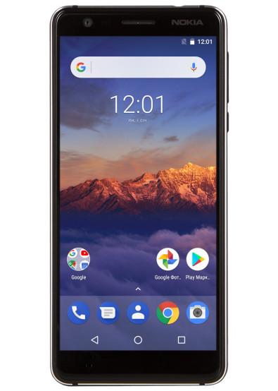 f8473845b66db Смартфон Nokia 3.1 Dual Sim Black купить по низкой цене в Киеве ...