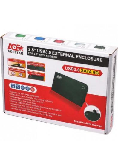 Фото - Внешний карман AgeStar HDD SATA 2.5'' USB 3.0 White (3UB2A14)