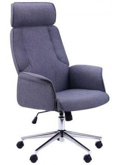 Фото - Кресло офисное AMF Madison Хром, ткань Серый