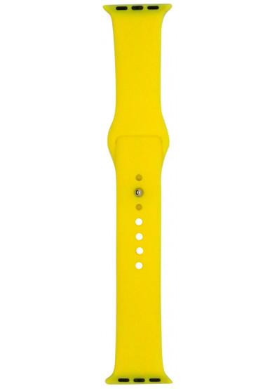 Фото - Ремешок для смарт-часов Molife Apple Watch Silicone Sport Band Yellow 38mm