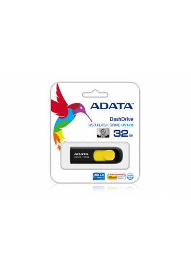 Фото - Флеш USB A-DATA UV128 32GB USB 3.0 Black/Yellow (AUV128-32G-RBY)