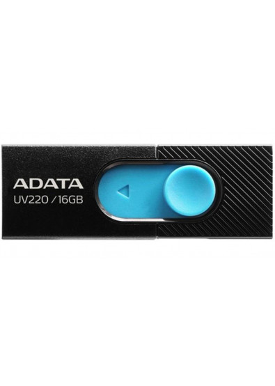 Фото - Флеш USB A-DATA UV220 16GB USB 2.0 Black/Blue (AUV220-16G-RBKBL)