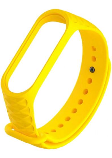 Ремешок для фитнес-браслета Xiaomi Ribbed Strap for Mi Band 3 Yellow (XMB3-RIB-YE)