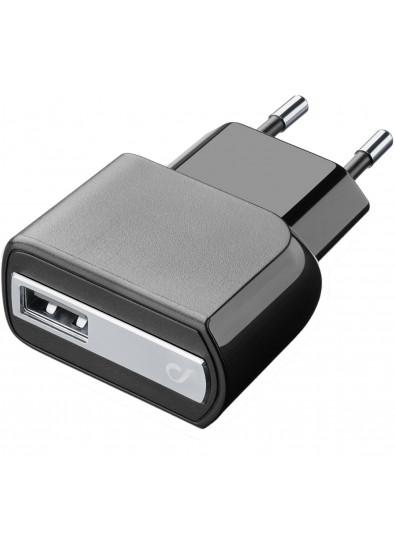 Фото - Сетевое зарядное устройство Cellular Line Compact USB Charger KIT microUSB black (ACHUSBKITMICROUSB2)