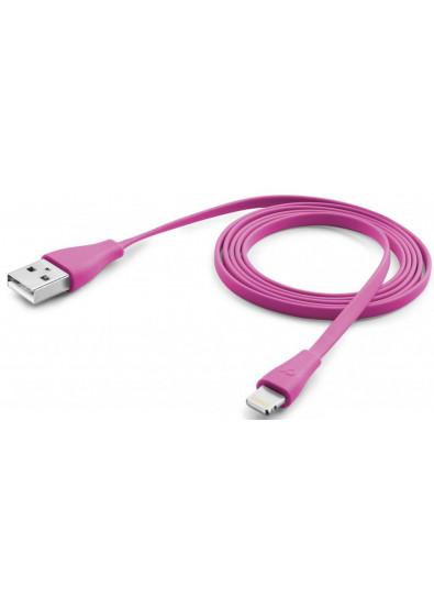 Фото - Кабель синхронизации данных Cellular Line Lightning 1m pink (USBDATACFLMFIIPH5P)