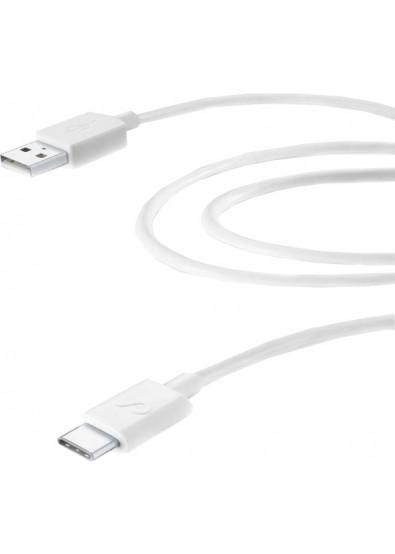 Фото - Кабель синхронизации данных Cellular Line Type-C 2m white (USBDATACUSBC2MW)