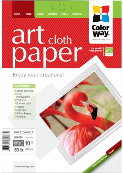 Фото - Фотобумага А4 Colorway ART глянцевая фактура ''Ткань'' 220 г/м², Letter, 10 л. (PMA220010CLT)ART матовый ''Ткань'' 220 г/м², Letter, 10 л. (PMA220010CLT)