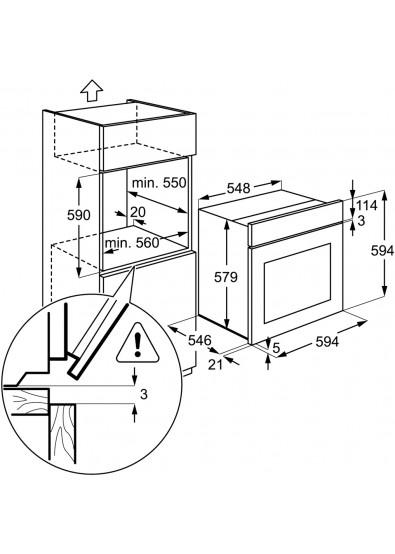 Фото - Духовой шкаф электрический стандарт Electrolux EZB53410AX