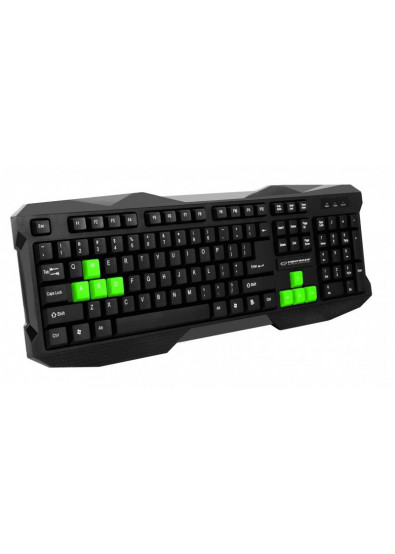 Фото - Клавиатура проводная Esperanza EGK101 Green USB