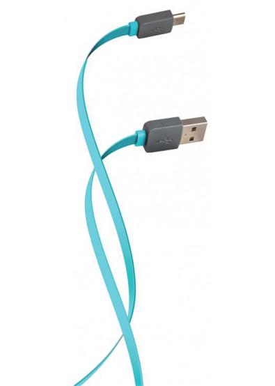 Фото - Кабель Florence Color USB-MicroUSB 1m Aquamarin (FDC-M1-2A)