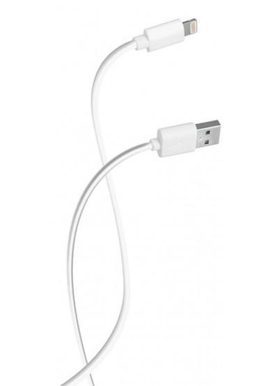Фото - Кабель синхронизации данных Florence USB-Lightning 0.2m White (FD-L02-1W)