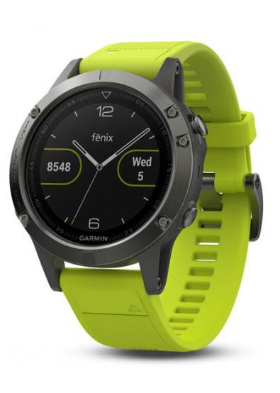 Смарт-часы Garmin Fenix 5 Slate Gray with Yellow Band (010-01688-02 ... 4f9c44ce15110