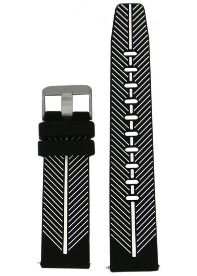 Фото - Ремешок для смарт-часов Molife GearS3 Silicone Casual Band Black/White 22mm