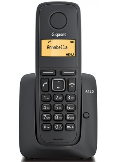 aa30c1ef3b1d0 Телефон беспроводной Gigaset A120 Black купить по низкой цене в ...
