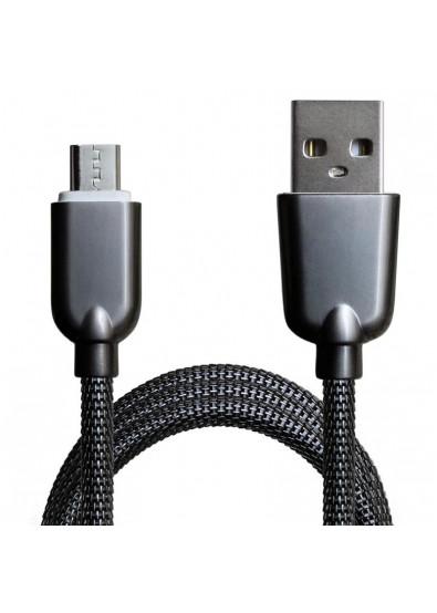Фото - Кабель синхронизации данных Grand-X USB-microUSB 1м Dark Silver (MM02DS)