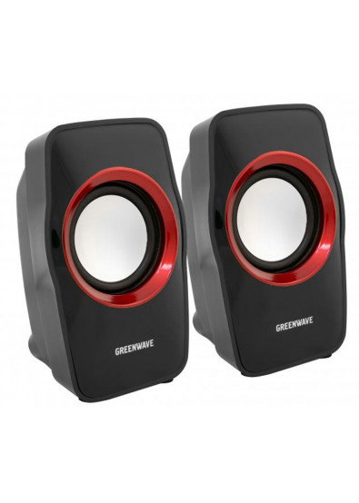 Фото - Компьютерная акустика компактная 2.0 Greenwave SA-602 Black/Red (R0015169)