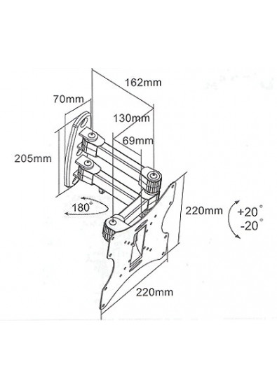 Фото - Крепление для телевизора iTECH LCD-53B