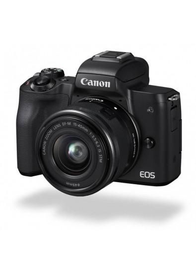 Фото - Фотокамера беззеркальная Canon EOS M50 + 15-45 IS STM Kit Black (2680C060)