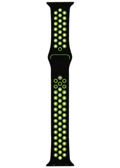 Фото - Ремешок для смарт-часов Molife Apple Watch Silicone Nike Sport Band 10 Black/Green 38mm