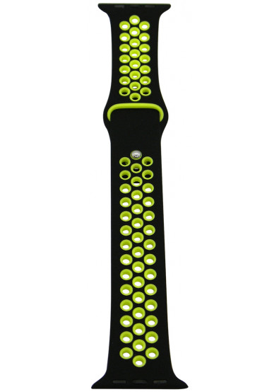 Фото - Ремешок для смарт-часов Molife Apple Watch Silicone Nike Sport Band 2 Black/Yellow 42mm