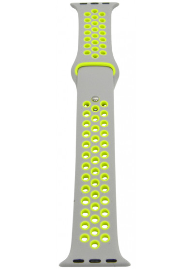 Фото - Ремешок для смарт-часов Molife Apple Watch Silicone Nike Sport Band 3 Grey/Yellow 38mm
