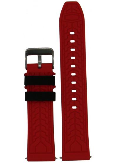 Фото - Ремешок для смарт-часов Molife GearS3 Silicone Sport Band Black/Red 22mm
