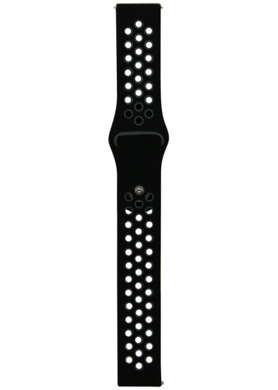 Фото - Ремешок для смарт-часов Molife GearSport Silicone Nike Sport Band Black/Grey 20mm