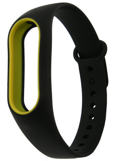 Фото - Ремешок для фитнес-браслета Molife MiBand2 Silicone Sport 10 Black/Yellow
