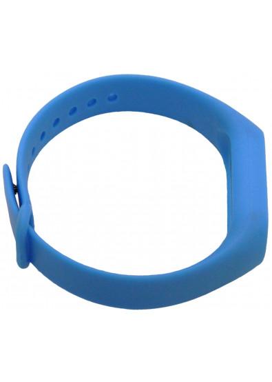 Фото - Ремешок для фитнес-браслета Molife MiBand2 Silicone Sport 14 Blue/White